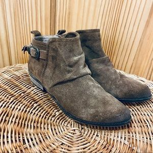 Naughty Monkey brown suede leather ankle boots 6.5